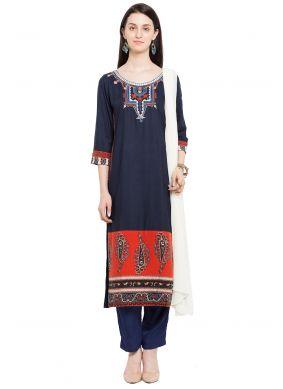 Cotton Embroidered Readymade Salwar Kameez