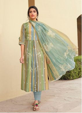 Cotton Multi Colour Designer Suit