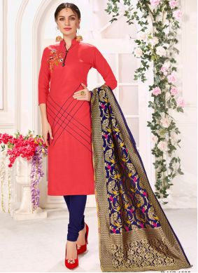 Cotton Pink Salwar Suits