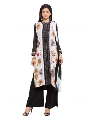 Cotton Printed Multi Colour Readymade Salwar Kameez