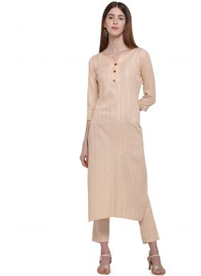 Cream Color Casual Kurti