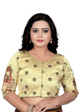Cream Embroidered Designer Blouse