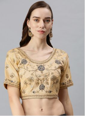 Cream Embroidered Designer Blouse
