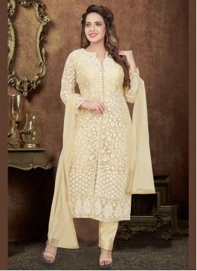 Cream Reception Bollywood Salwar Kameez