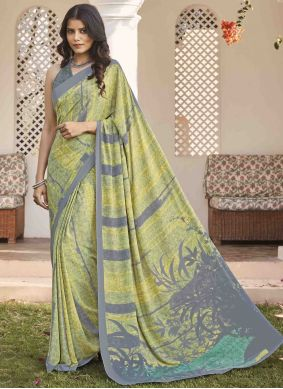Crepe Silk Multi Colour Saree