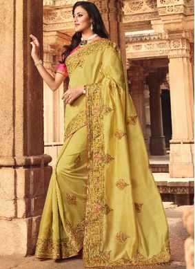 Customary Embroidered Ceremonial Designer Traditional Saree