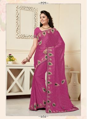 Customary Embroidered Festival Designer Traditional Saree