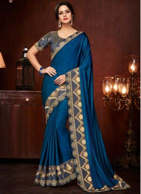 Cute Art Silk Embroidered Designer Traditional Saree