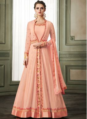 Dashing Embroidered Party Readymade Anarkali Suit