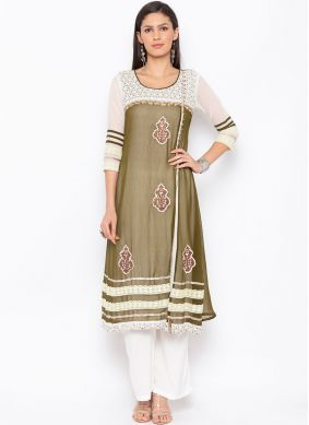 Delectable Embroidered Faux Georgette Party Wear Kurti