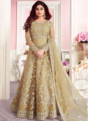 Delectable Embroidered Net Anarkali Suit