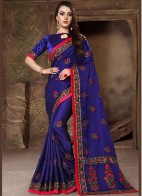 Delightsome Embroidered Designer Traditional Saree