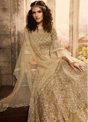Deserving Embroidered Net Anarkali Suit