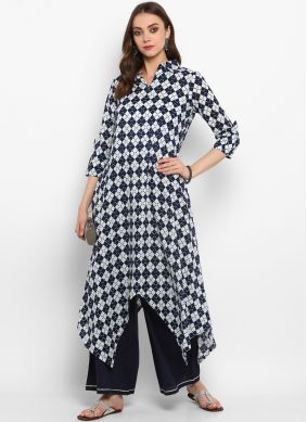 Deserving Plain Party Casual Kurti