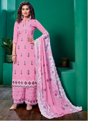 Pink Designer Palazzo Salwar Suit For Party