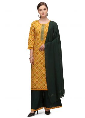 Yellow  Designer Palazzo Suit For Casual