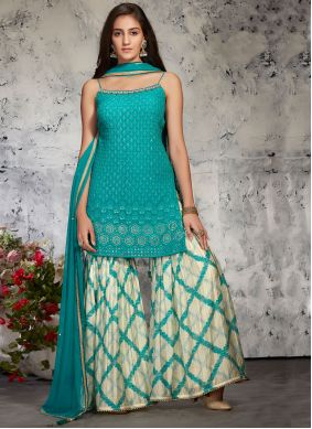 Rama Designer Palazzo Suit For Party