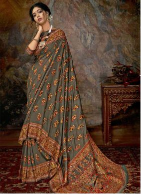 Multi Colour Designer Saree For Reception