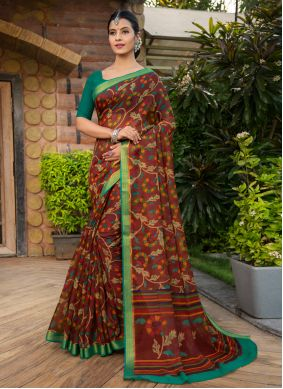 Designer Saree Weaving Cotton Silk in Multi Colour