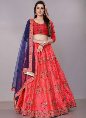 Desirable Net Lace Lehenga Choli