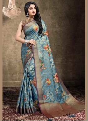 Digital Print Ceremonial Classic Designer Saree