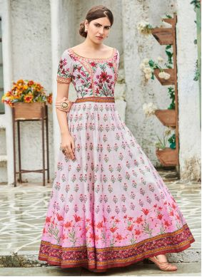 Digital Print Engagement Trendy Gown