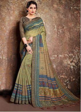 Digital Print Handloom silk Classic Designer Saree