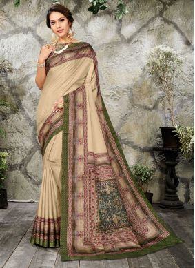 Digital Print Silk Casual Saree