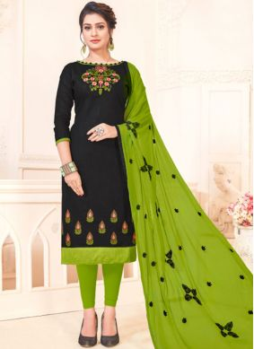 Dilettante Embroidered Casual Churidar Suit