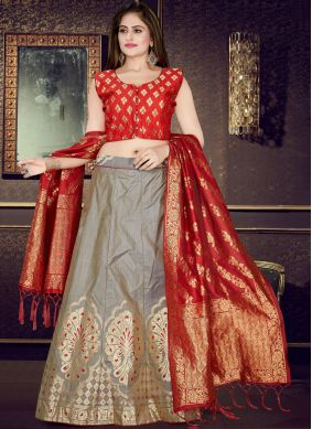 Distinctive Art Silk Readymade Lehenga Choli