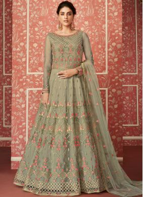 Distinctive Embroidered Floor Length Anarkali Suit