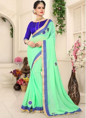 Distinctive Faux Chiffon Classic Saree