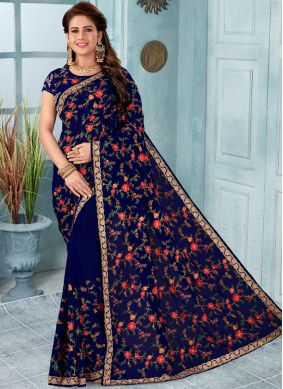 Distinctively Faux Georgette Classic Saree