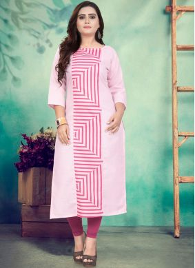 Distinguishable Cotton Festival Party Wear Kurti