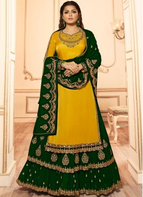 Drashti Dhami Green Wedding Lehenga Choli