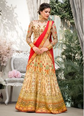 Elegant Resham Fancy Fabric Lehenga Choli