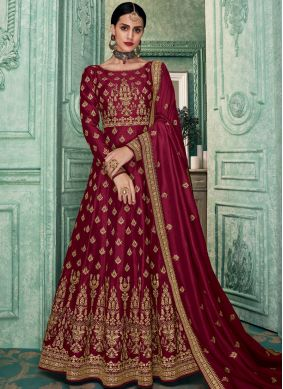 Elite Art Silk Floor Length Anarkali Suit