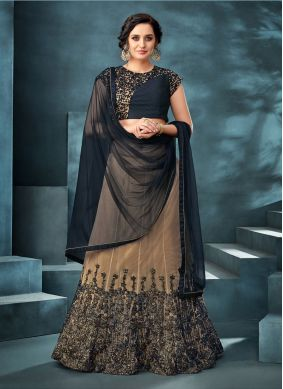 Embroidered Beige Trendy Designer Lehenga Choli