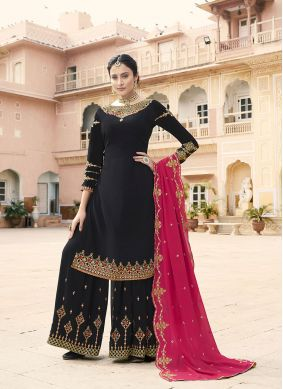 Embroidered Black Designer Pakistani Suit