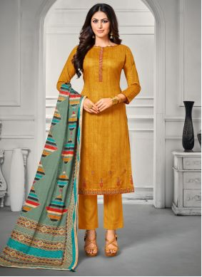 Embroidered Casual Trendy Salwar Suit