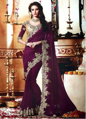 Embroidered Contemporary Style Saree