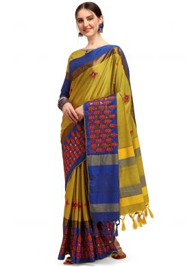 Embroidered Cotton Silk Traditional Saree