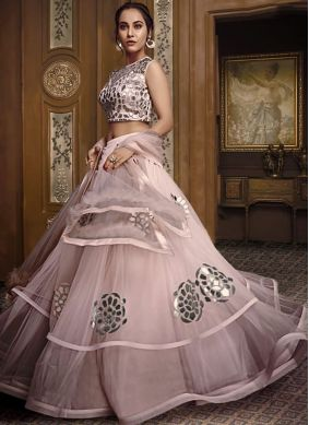 Embroidered Fancy Fabric Designer Lehenga Choli in Pink