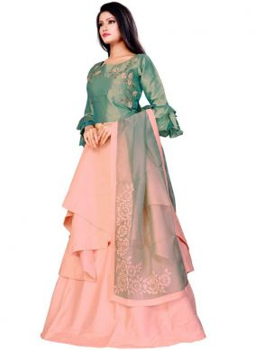 Embroidered Fancy Fabric Trendy Lehenga Choli in Pink
