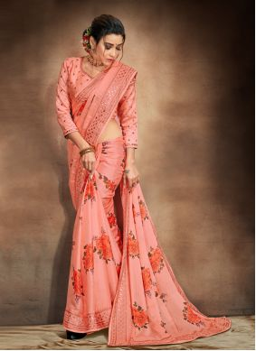 Embroidered Festival Printed Saree