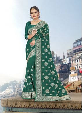 Embroidered Georgette Trendy Saree