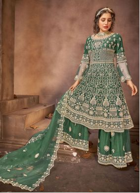 Embroidered Green Designer Pakistani Salwar Suit