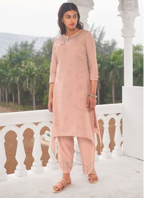 Embroidered Linen Party Wear Kurti