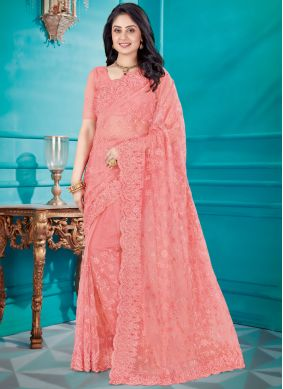Embroidered Net Classic Saree