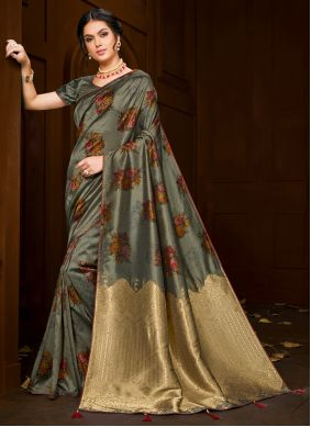 Embroidered Poly Silk Classic Saree